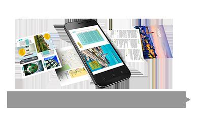 Reiseführer für Andalusien für mobile Geräte.